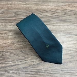 Christian Dior Solid Hunter Green Tie